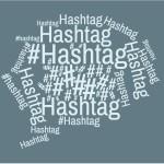 wordcloud Hashtag blau