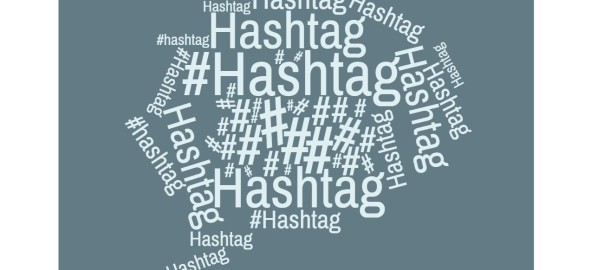 wordcloud Hashtag blau