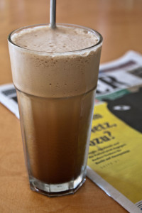 Eiskaffee im Glas