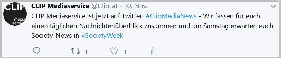 CLIP Mediaservice ist auf Twitter
