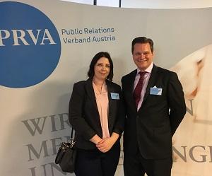 Christina Hagenauer und Alexander Seutter beim PRVA Kommunikationstag
